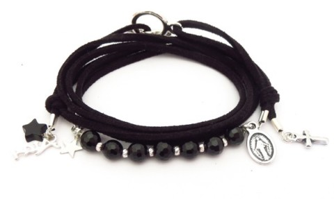 Bracelet en nubuck et pierres Roxanne