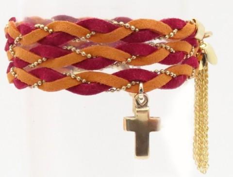 Bracelet tressé en nubuck Roxanne