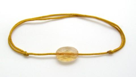 Bracelet cordon pierre semi-précieuse solitaire