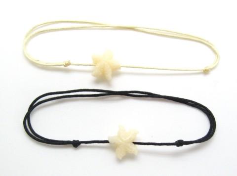 Bracelet avec étoile de mer en résine