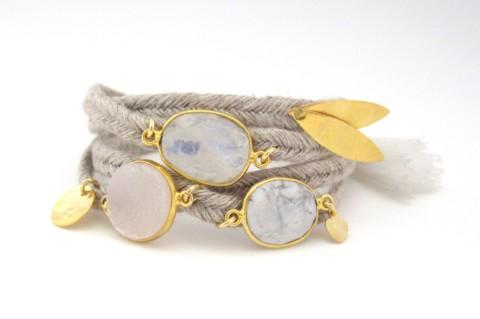 Bracelet en lin Gemma
