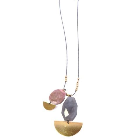 Sautoir chaine avec pierres Vivienne