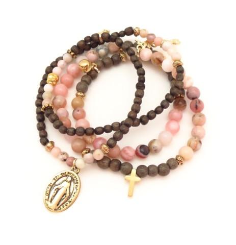 Bracelet pierres et bois Lucia