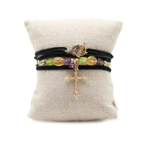Bracelet velours Maddalena