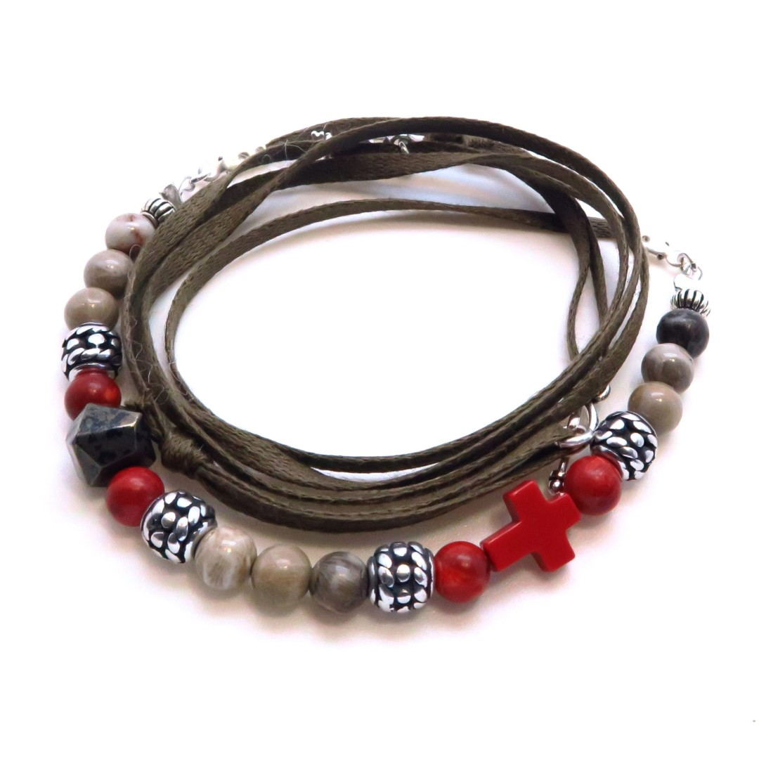 Bracelet cordon homme Lucia