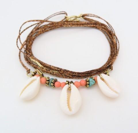 Bracelet lurex 3 cauris